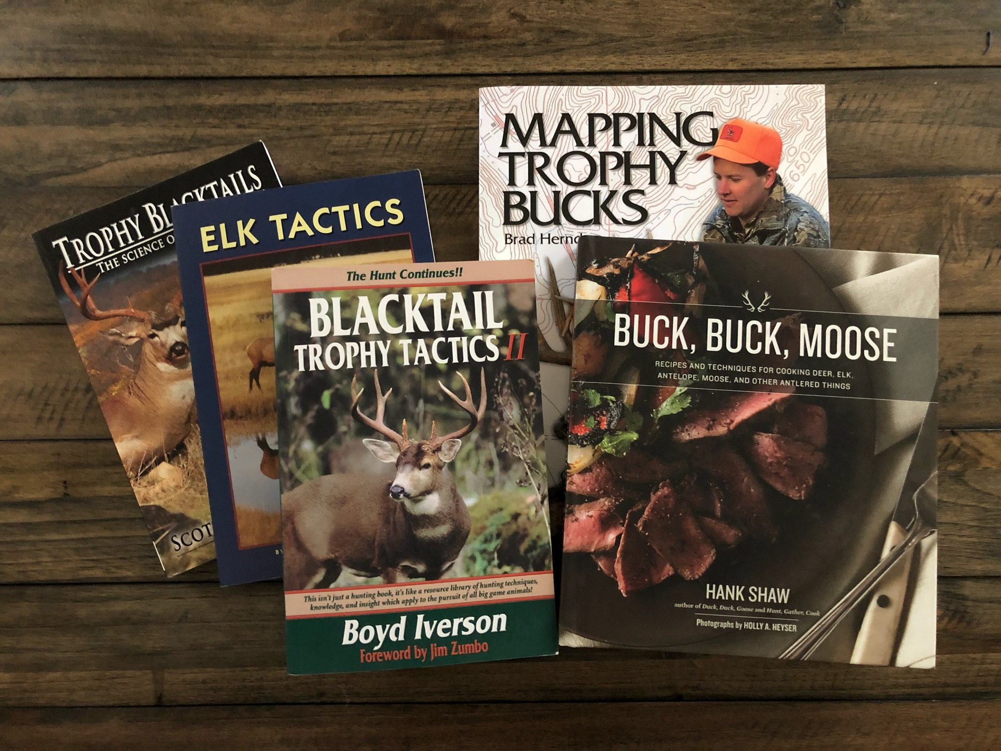 Collection of deer hunting books