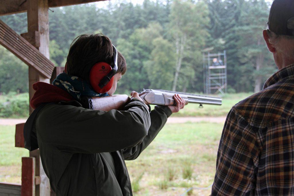 Beginner hunter learning to shoot