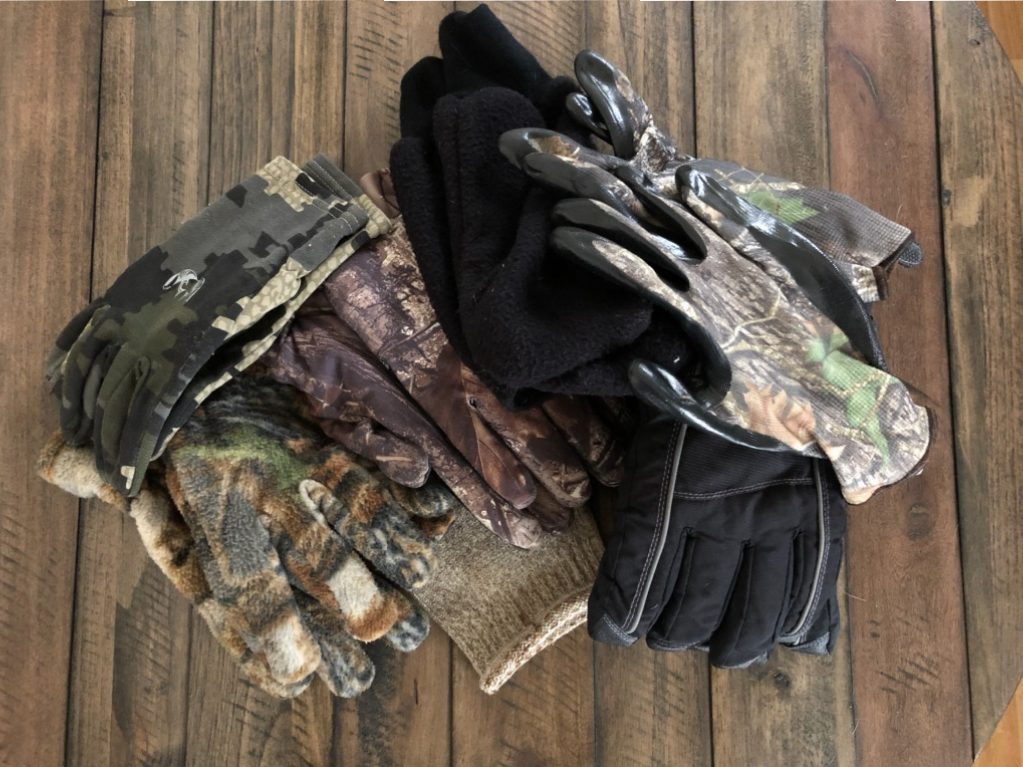 My growing collection of hunting gloves