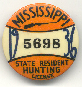 Old hunting license