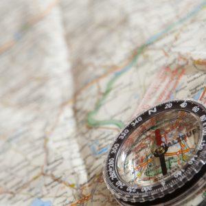 Compass for land navigation