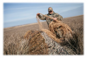 Duck blind grass
