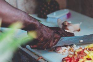 Natural chef blade patina