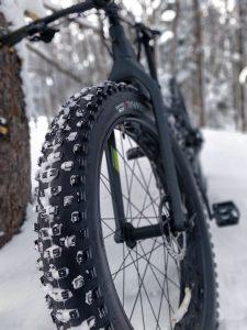 Mountain bike with big tires