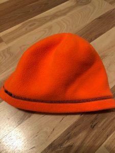 Blaze orange hunting beanie